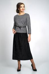 Alani Collection 829 блуза серебро+ черная