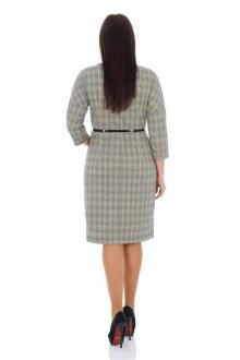 Платье с ремнем Effect-Style 692 серый,черный,горчичный