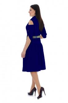 Платье с ремнем Effect-Style 695 васильковый