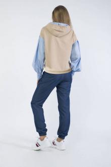 Блузы Effect-Style 807 бежевый,голубой