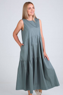 Платье FloVia 4084 хаки