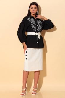 Блузы Chumakova Fashion 2056 черный_с_молочным