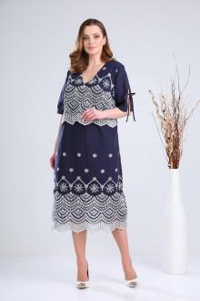 Платье Verita 2105 синий_с_белым