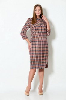 Платье Koketka i K 880 гусиная_лапка/бежевый_фон