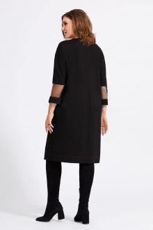 Платье Милора-стиль 942 черный+красный