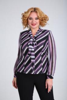 Блузы SOVITA M-110 черно_розовый_полоска