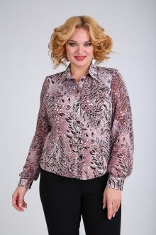 Блузы SOVITA M-105 бордово_черный_принт