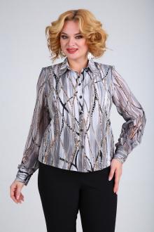 Блузы SOVITA M-105 серо_черный_принт