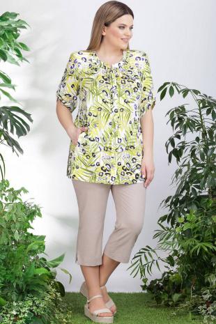 блуза Lenata 11006 листья