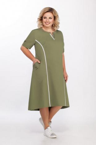 платье LaKona 1219 хаки