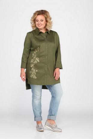 блуза Djerza 0192 хаки