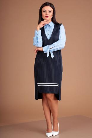 Плательный комплект Мода Юрс 2503 синий-голубой