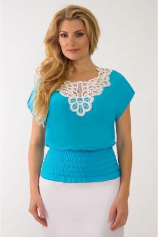блуза Solomeya Lux 49 голубой