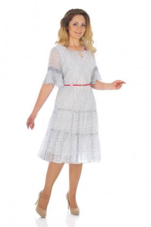 платье Effect-Style 657 белый/серый
