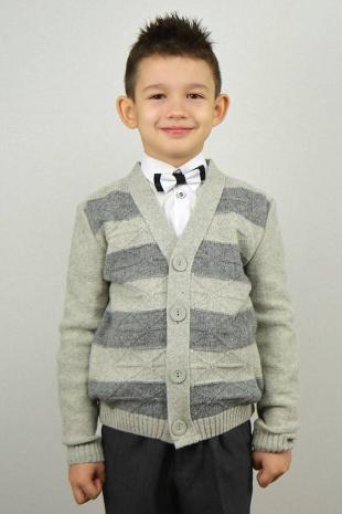 жакет для мальчика Romgil ТН218 св.серый