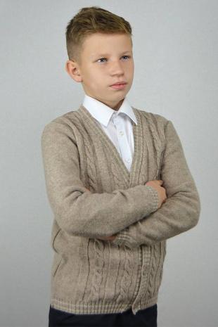 жакет для мальчика Romgil ТН225 бежевый