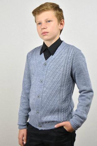 жакет для мальчика Romgil ТН240 серый