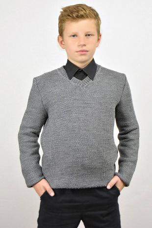 жакет для мальчика Romgil ТН273 серый