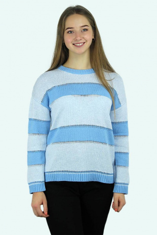 джемпер Romgil ТЗ328 голубой,светло-голубой
