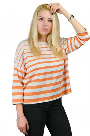 джемпер Romgil ТЗ189 белый,оранжевый