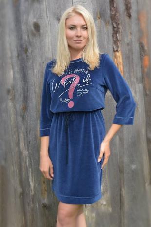платье Romgil ТЗ273ДБ синий