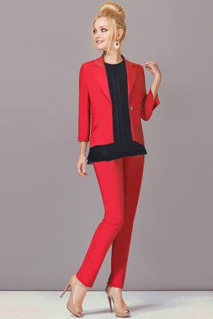Брючный костюм Lady Secret 2393 красный+черный