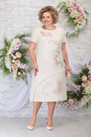 платье Ninele 5814 бежевый