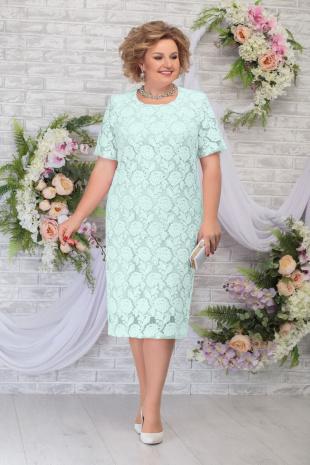 платье Ninele 7286 светло-зеленый