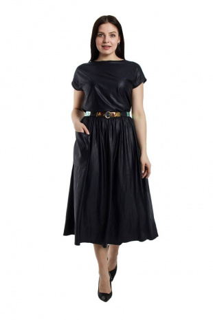 Платье с ремнем Effect-Style 698 синий
