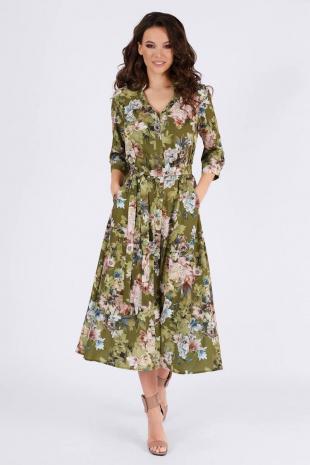 платье Teffi Style L-1387 таинственные_цветы
