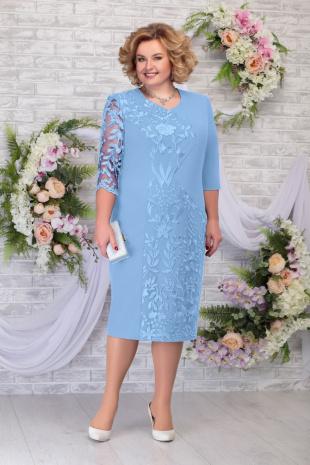платье Ninele 7290 голубой