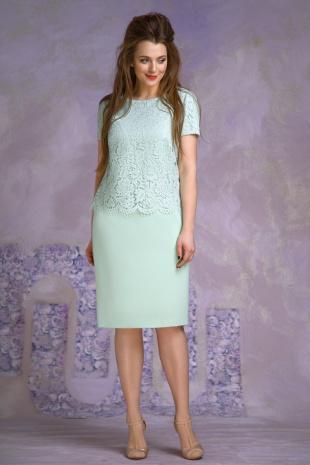платье Магия моды 1363 салат