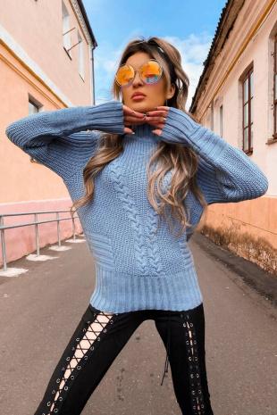джемпер Romgil ТЗ322А серо-голубой