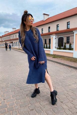 платье Romgil ТЗ330 индиго