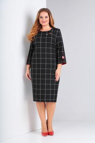 платье Милора-стиль 809 черная_клетка