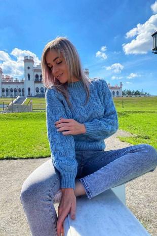 джемпер Romgil ТЗ327 серо-голубой