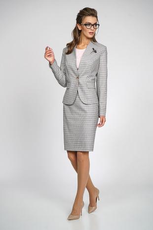 Юбочный костюм Alani Collection 753 серый