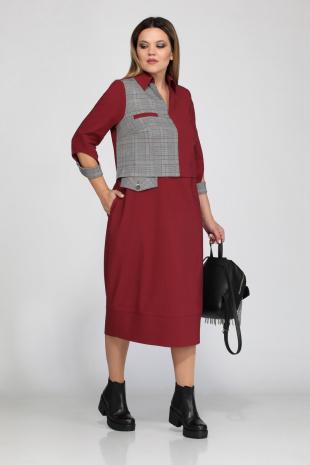 платье Lady Secret 3547/1 бордо