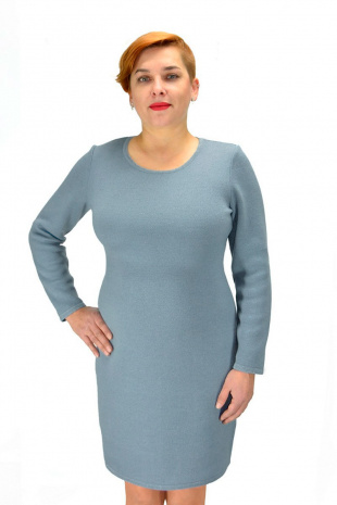 платье Romgil ТЗ170 серо-голубой