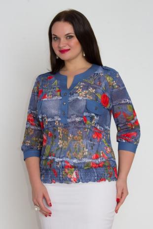 блуза DaLi 382 красные_цветы