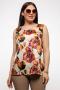 Блузы La rouge 3152 цветы-набивной