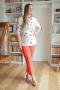 Karina deLux B-420  белый+принт_коралл