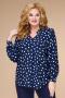 Блузы Svetlana-Style 1709 синий+горох
