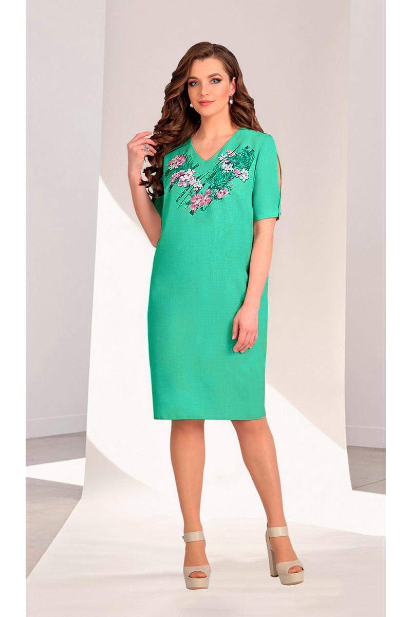 4ea39813866 платье Мишель стиль 696 бирюза