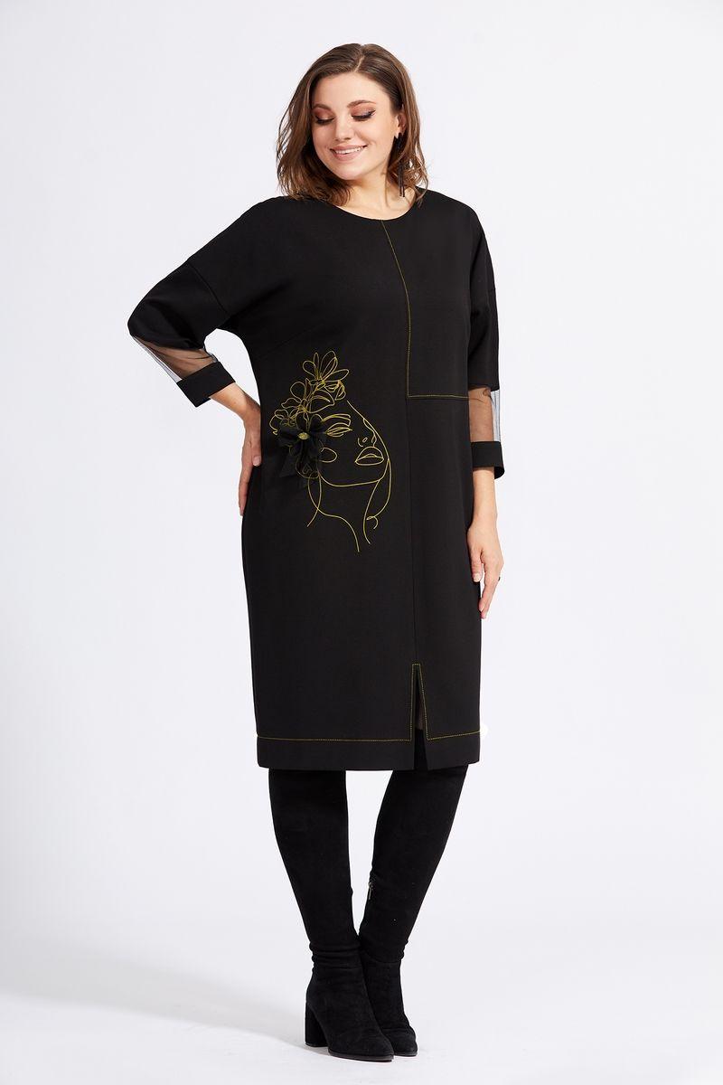 Платья и сарафаны Милора-стиль 942 черный+желтый
