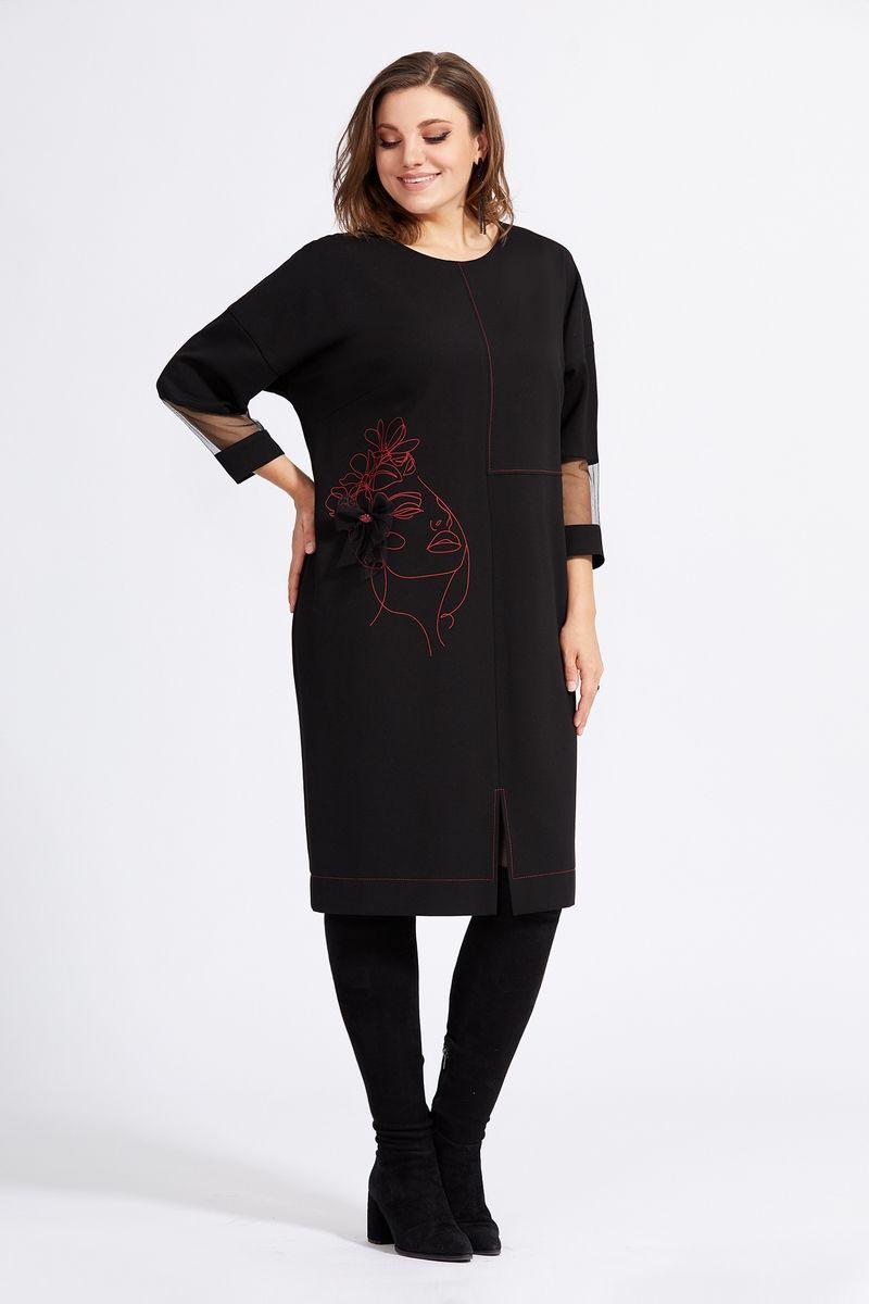 Платья и сарафаны Милора-стиль 942 черный+красный