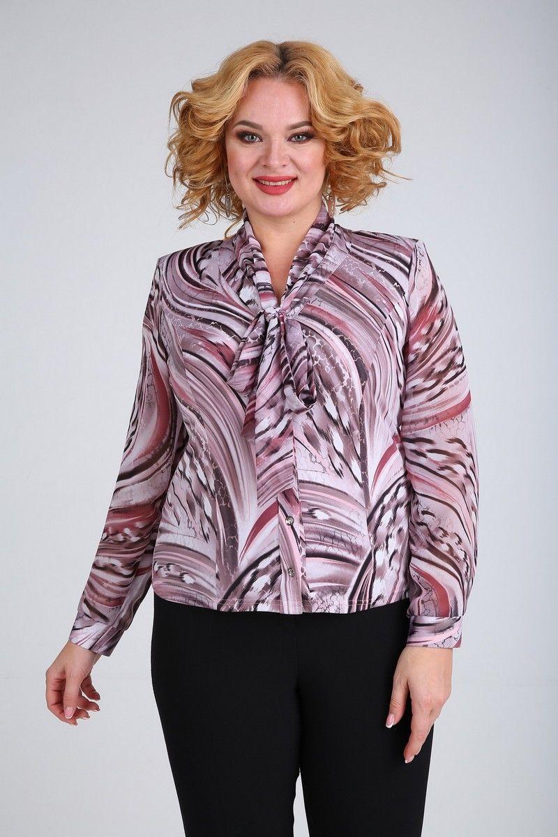 Блузы SOVITA M-110 розово_бордовый_принт